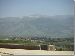 Mt. Hermon, view from Kefar Giladi