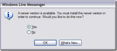 Must install new version